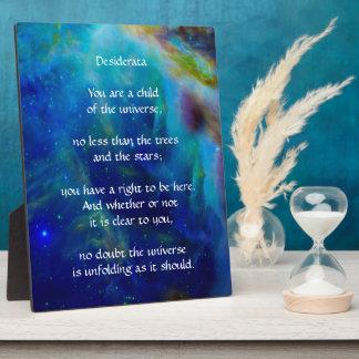 Desiderata Child of Universe Plaque