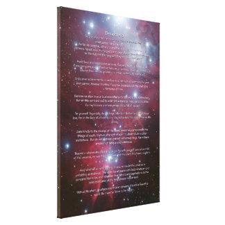 Desiderata - Christmas Tree Cluster, Cone Nebula Canvas Print