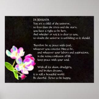 DESIDERATA Cosmic Blossoms poster
