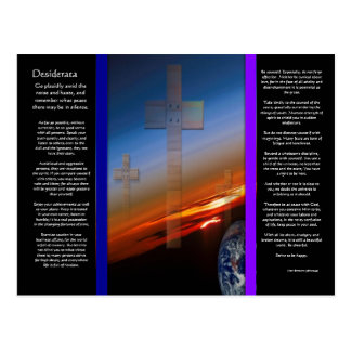 DESIDERATA Crosses Above Earth Postcard