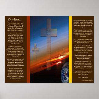 DESIDERATA Crosses Above Earth Posters