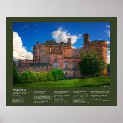Desiderata - Dalhousie Castle Poster