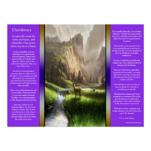 Desiderata Deer Valley Posters