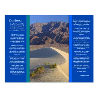 DESIDERATA Desert Range Postcard