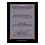 """Desiderata """"desired things"""", customizable colors poster"""