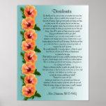 "Desiderata ""desired things"" Hibiscus border Poster"