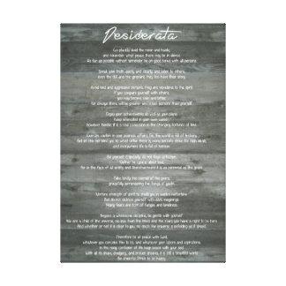 "Desiderata ""Desired Things"" Inspirational Print"