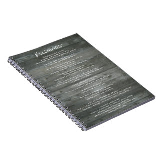 "Desiderata ""Desired Things"" Inspirational Print Spiral Notebook"