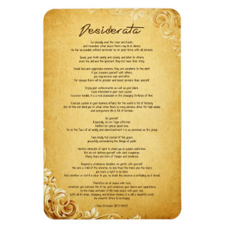 """Desiderata """"Desired Things"""" on Vintage Parchment Magnet"""