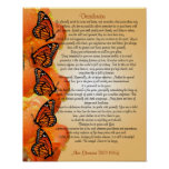 """Desiderata """"desired things"""", prose Monarch butterf Poster"""