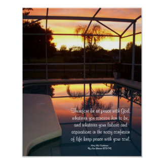 "Desiderata ""desired things"", tropical pool print"