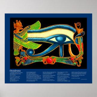 Desiderata - Eye of Horus Print