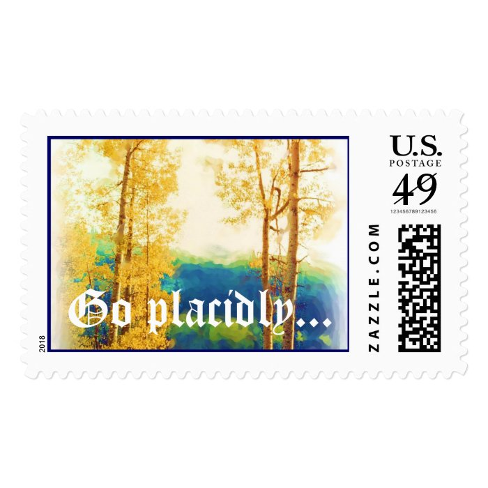 DESIDERATA Faded Aspens postage