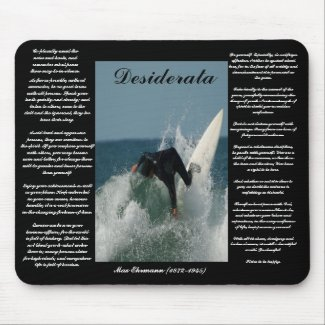 Desiderata Falling Surfer Mousepad