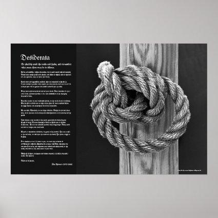 Desiderata - Fine Art Minimalist Knot A Rope Knot Poster