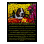 Desiderata Flower Beagle Posters Poster