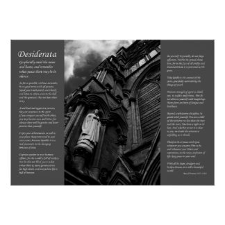 Desiderata - Forever Watching Poster