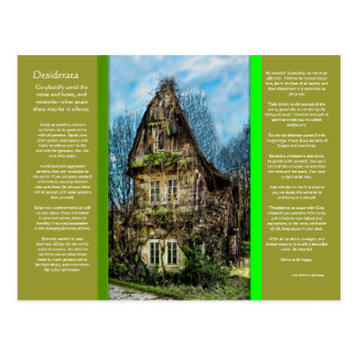 DESIDERATA Ghost House Postcard