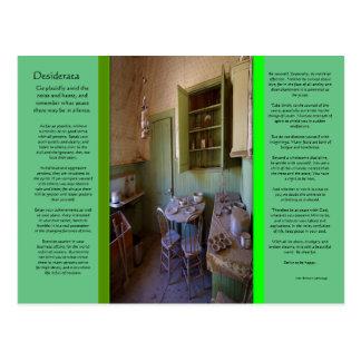 DESIDERATA Ghost Room Postcard