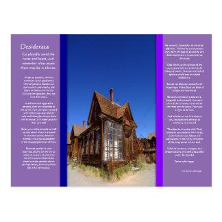 DESIDERATA Ghost Town Postcard