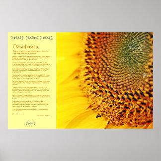 Desiderata - Golden Sunflower Seeds Poster