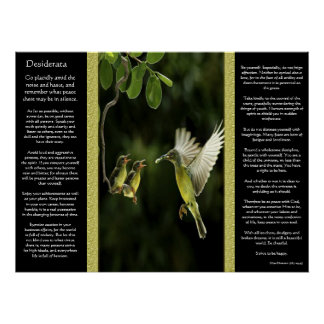 Desiderata Hummingbird Posters 2