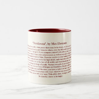 Desiderata - Inspirational Poem for Graduates Two-Tone Coffee Mug