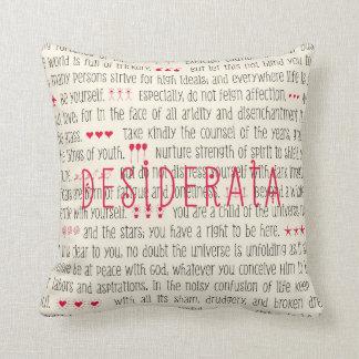 Desiderata Inspirational Poem Throw Pillow