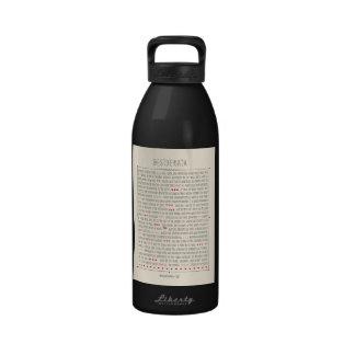 Desiderata Inspirational Poem Water Bottle