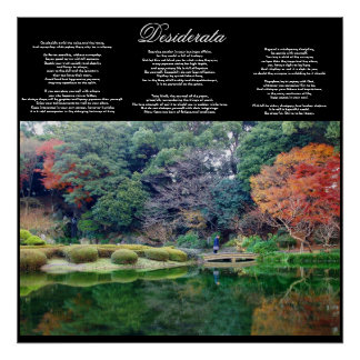 desiderata inspirational poster FROM 8.99