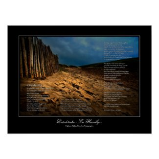 Desiderata - Leaving the Beach gallery-style print