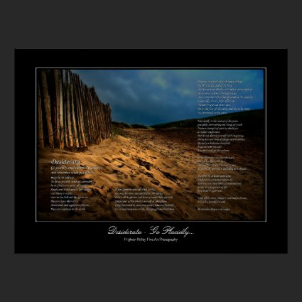 Desiderata - Leaving the Beach gallery style print