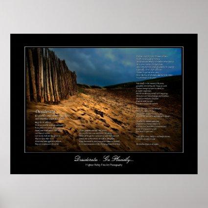 Desiderata - Leaving the Beach gallery style print