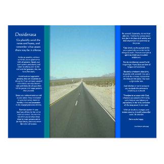 DESIDERATA Long Road Postcard