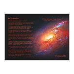 Desiderata, M106 Spiral Galaxy, Canes Venatici Canvas Print