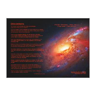 Desiderata, M106 Spiral Galaxy, Canes Venatici Stretched Canvas Prints