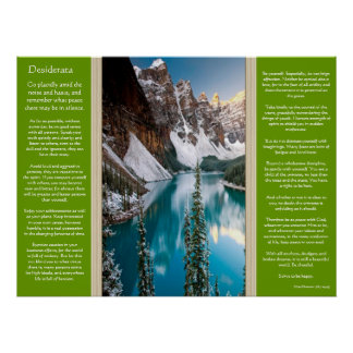 Desiderata Majestic Mountain View Posters