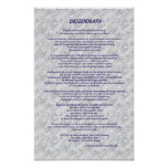 Desiderata Marble Posters