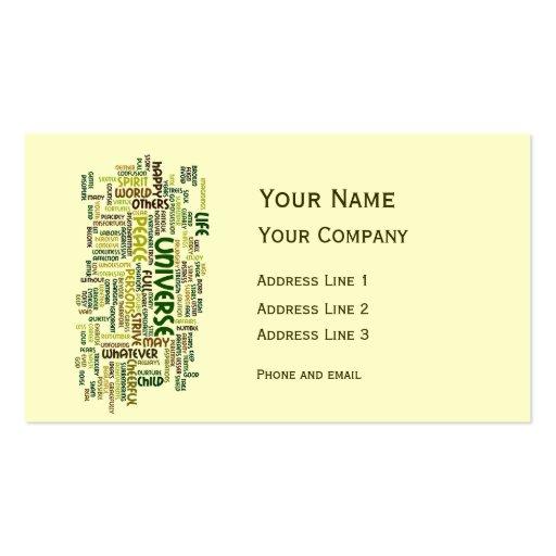Desiderata Motivation Poem Calling Card Business Card