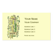 Desiderata Motivation Poem Calling Card Double-Sided Standard Business Cards (Pack Of 100) at Zazzle