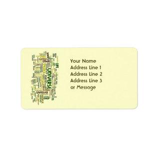 Desiderata Motivation Poem Name Address Label at Zazzle