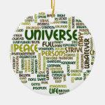 Desiderata Motivational Poem Words Pendant Ornament