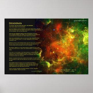 Desiderata - North American and Pelican Nebulae Poster
