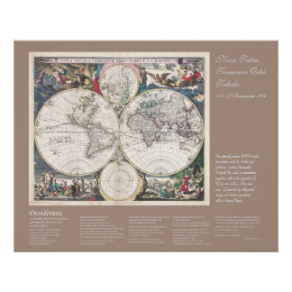 Desiderata - Nova Totius Terrarum Orbis Tabula Print