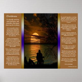 Desiderata Ocean silhouette Posters