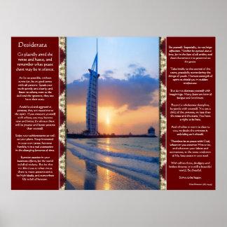 Desiderata Ocean Sky Scape Posters