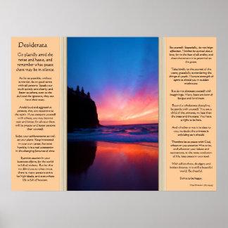 Desiderata Ocean Sky Scape Posters 2