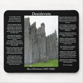DESIDERATA Old English castle Mousepad