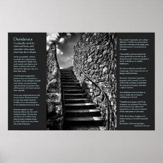 Desiderata on Barbican Steps, Onwards and Upwards Print