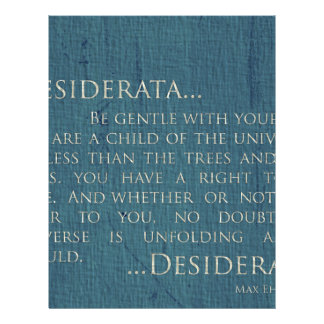 Desiderata On Canvas Letterhead
